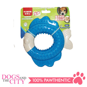 JX P991 Fish-Shaped Soft Rubber Molar Pet Toy 14x14x3cm Dog Toy