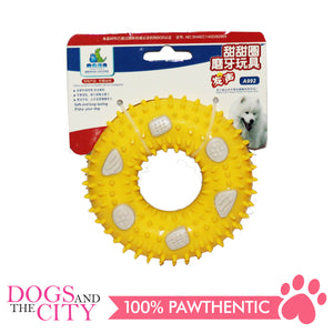 JX A992 Donut Molar Pet Toy 9x9x3cm for Dog