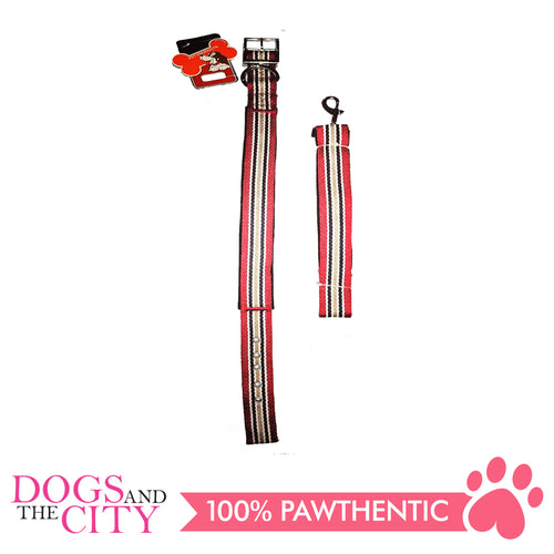 JX 3.2cm Pet Collar and Leash For Large Breed Dogs