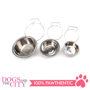 JX Stainless Steel Hanging Pet Bowls for Dogs and Cats 11cm/13cm/17cm