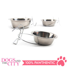 Load image into Gallery viewer, JX Stainless Steel Hanging Pet Bowls for Dogs and Cats 11cm/13cm/17cm