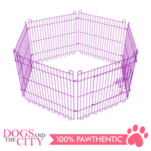Load image into Gallery viewer, JX 6 Panels Pet Playpen 70x70cm Violet for Dog and Cat