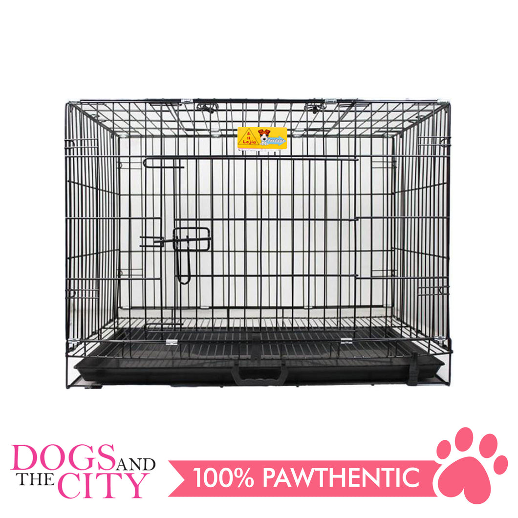 JX D215MA Foldable Pet Cage 60x43x50cm Size 2 Black - All Goodies for Your Pet