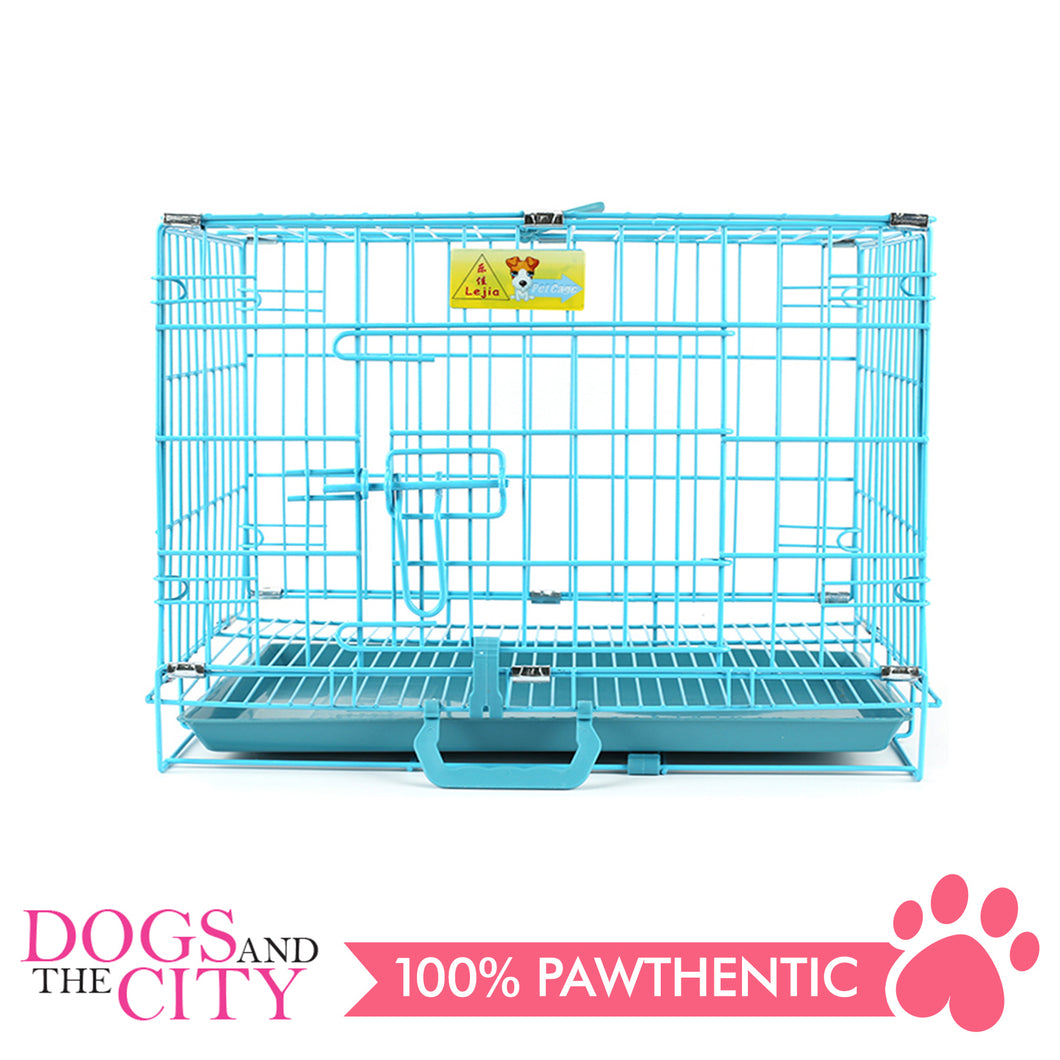 JX D215MA Foldable Pet Cage 60x43x50cm Size 2 Blue - All Goodies for Your Pet