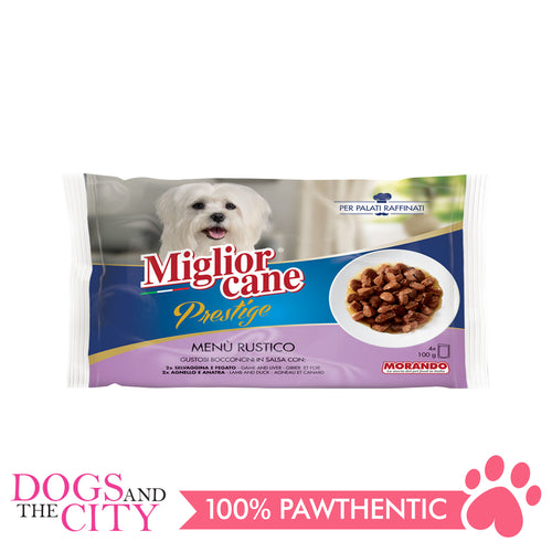 Morando Migliorcane Prestige Game, Liver, Lamb and Duck 4x100g - Dogs And The City Online