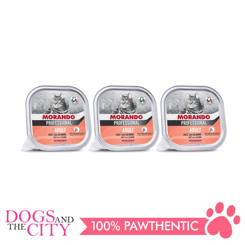 Morando Migliorgatto Professional Salmon Wet Food for Cats 100g (3 packs) - Dogs And The City Online