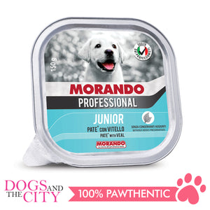 Morando Professional Dog Pate With Veal Junior Wet Dog Food 150g (3 Packs)
