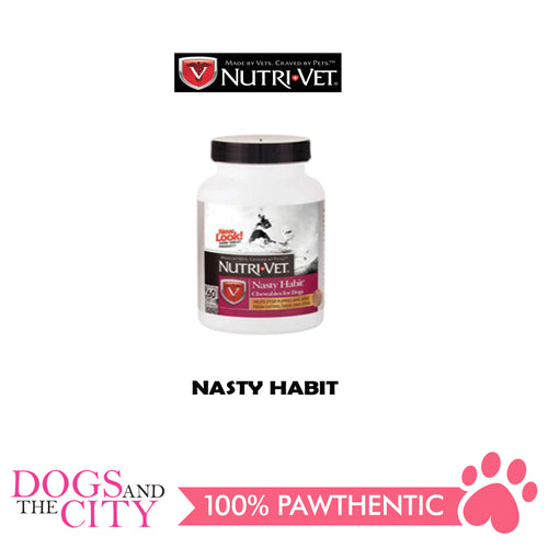 Nutrivet Nasty Habit 60 Chewables For Dogs - All Goodies for Your Pet