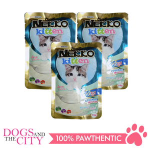Nekko Cat Kitten Chicken Mousse 70g (3 packs) - All Goodies for Your Pet