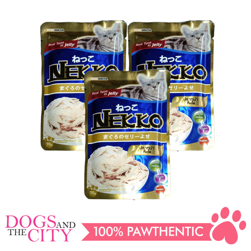 Nekko Cat Food Tuna 70g (3 packs) - All Goodies for Your Pet
