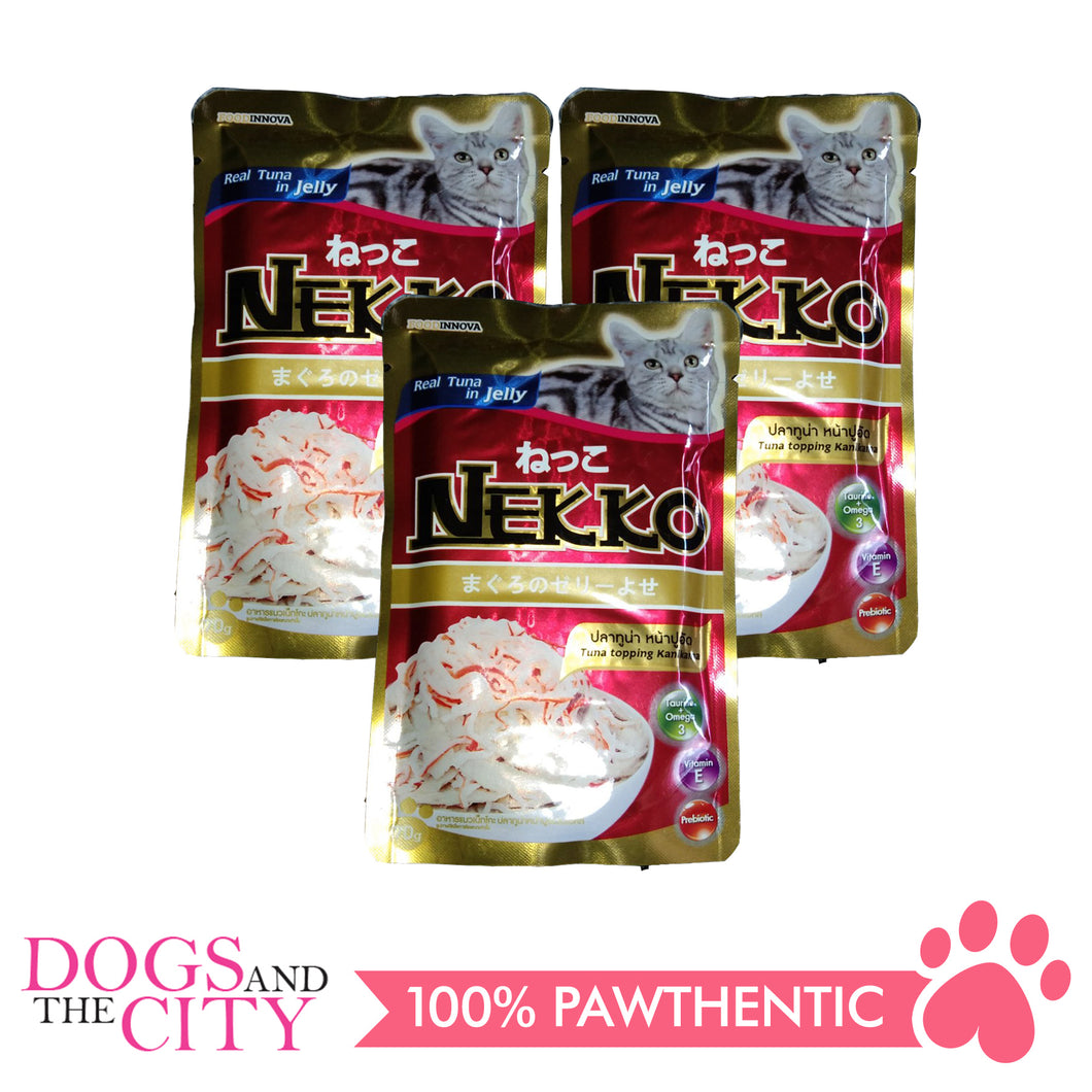 Nekko Cat Food Tuna Topping  Kanikama 70g (3 packs) - All Goodies for Your Pet