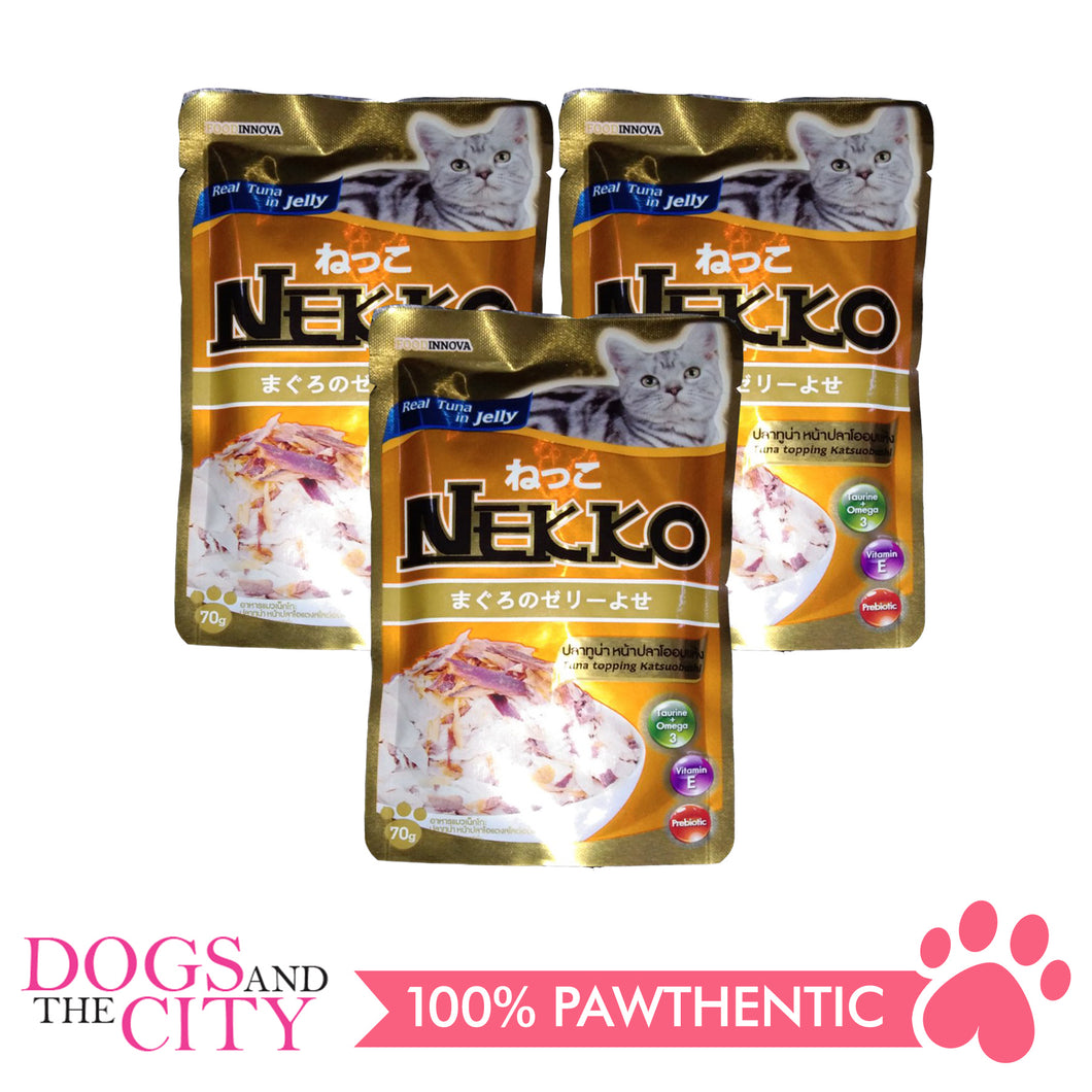 Nekko Cat Food Tuna Topping  Katsuobushi 70g (3 packs) - All Goodies for Your Pet