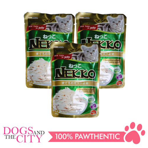 Nekko Cat Food Tuna Topping Sasami 70g (3 packs) - All Goodies for Your Pet