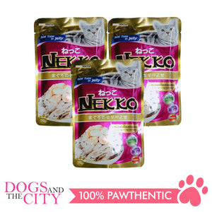 Nekko Cat Food Tuna Topping  Shrimp and Scallop 70g (3 packs) - All Goodies for Your Pet