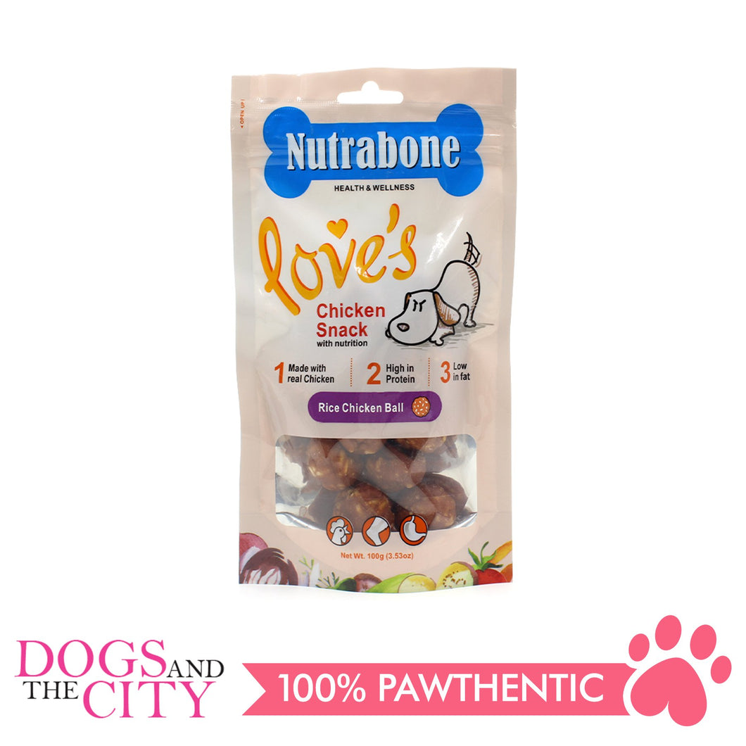 Nutrabone U011 Snack Rice Chicken Ball 100g - All Goodies for Your Pet
