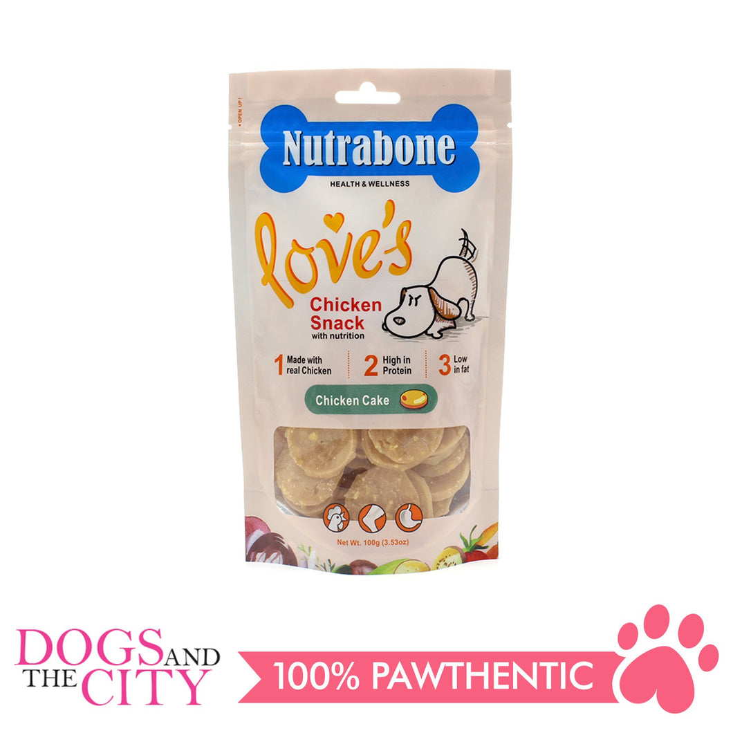 Nutrabone U014 Snack Chicken Cake 100g - All Goodies for Your Pet