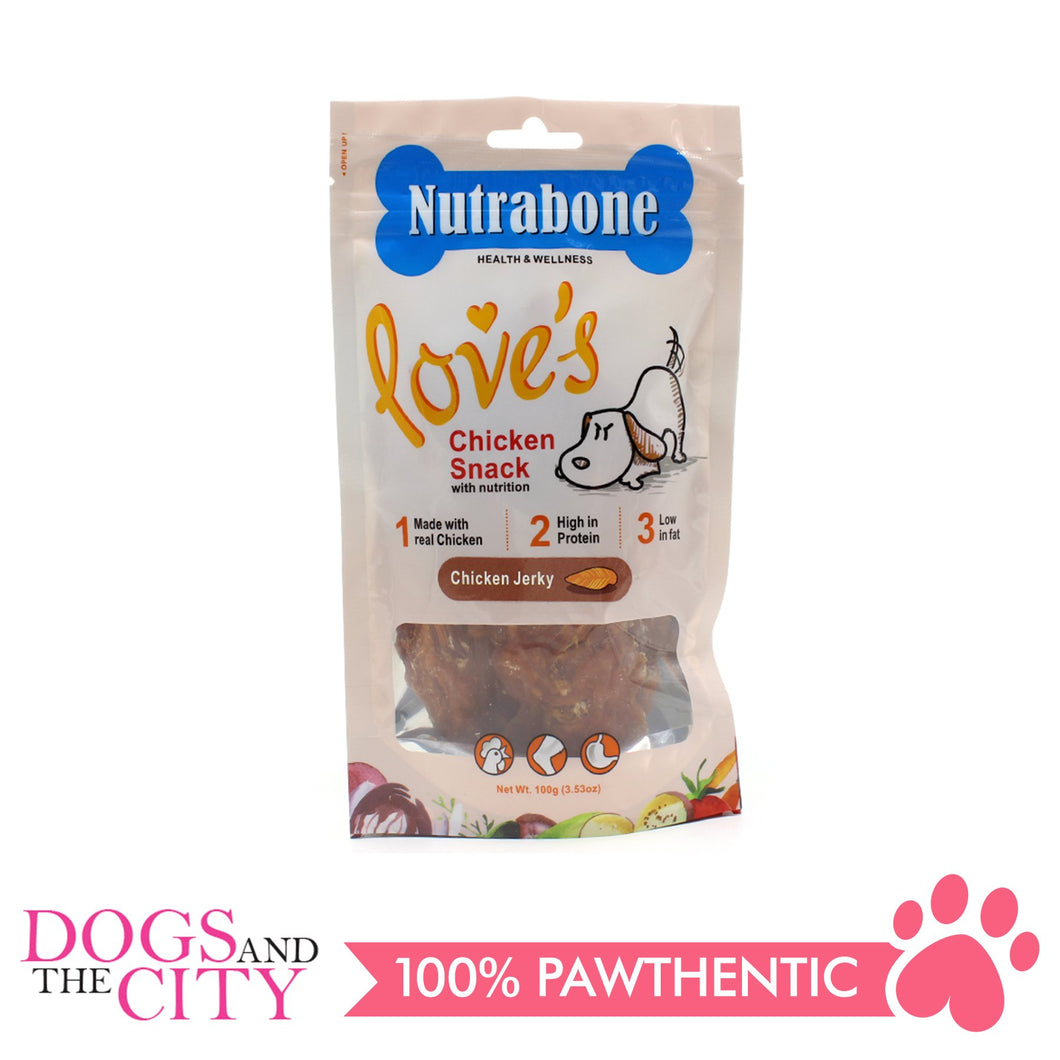 Nutrabone U015 Snack Chicken Jerky 100g - All Goodies for Your Pet