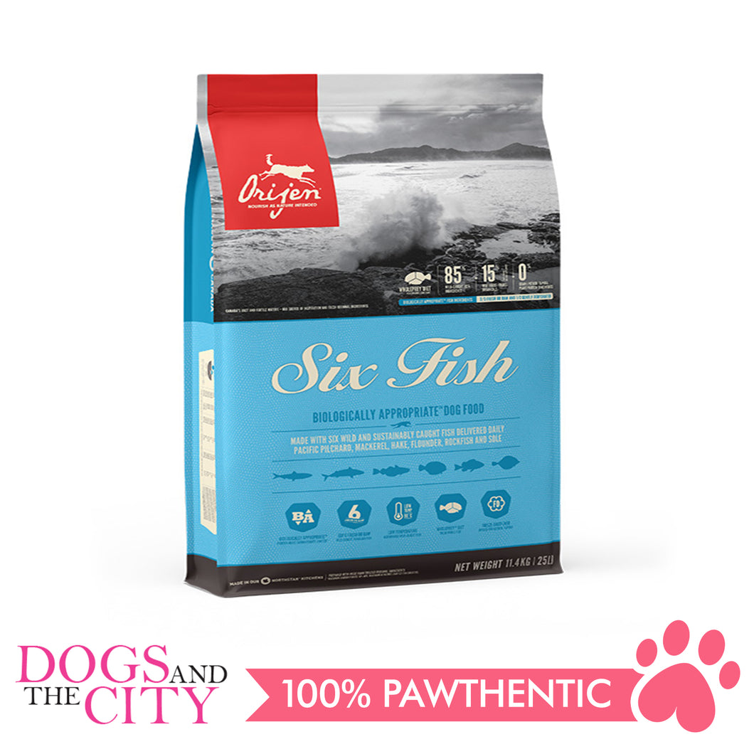 Orijen 6 Fish Dog 11.4kg - All Goodies for Your Pet