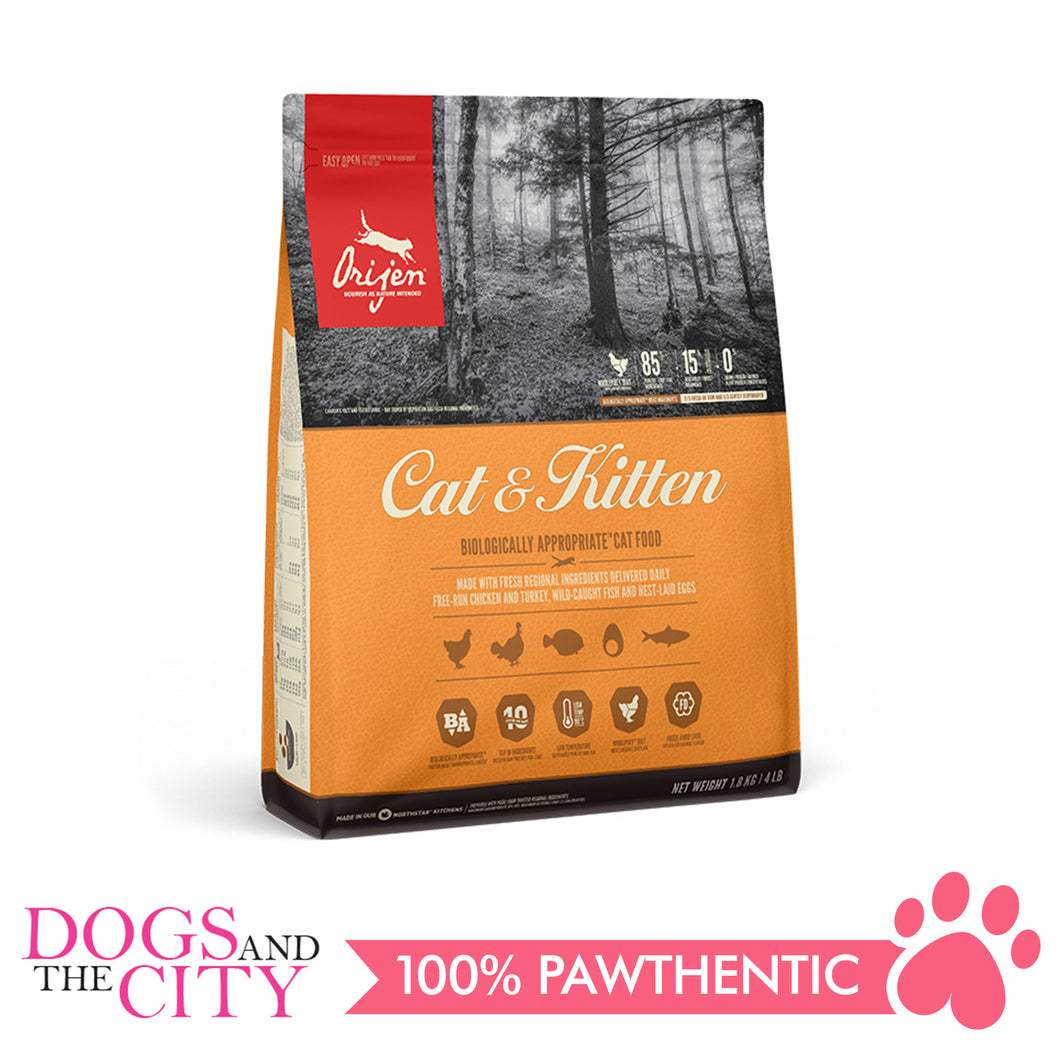 Orijen Cat & Kitten 1.8kg - Dogs And The City Online