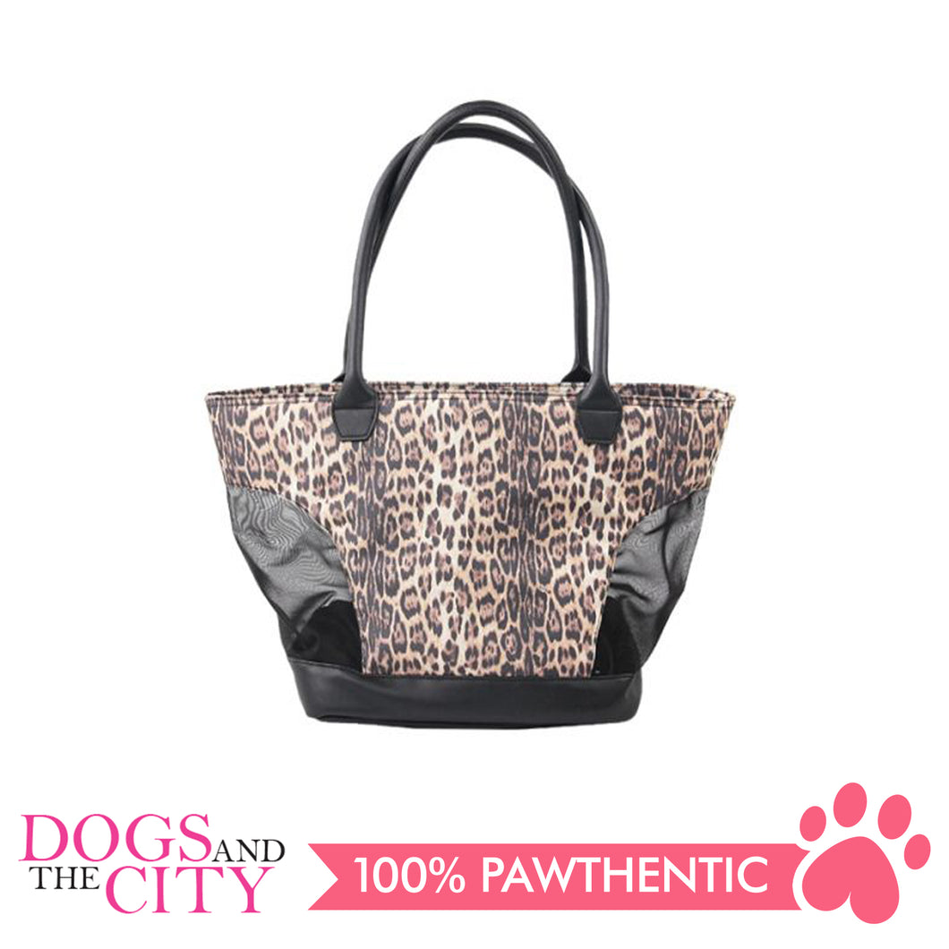Pawise 12492 Pet Leopard Print Tote Bag - All Goodies for Your Pet