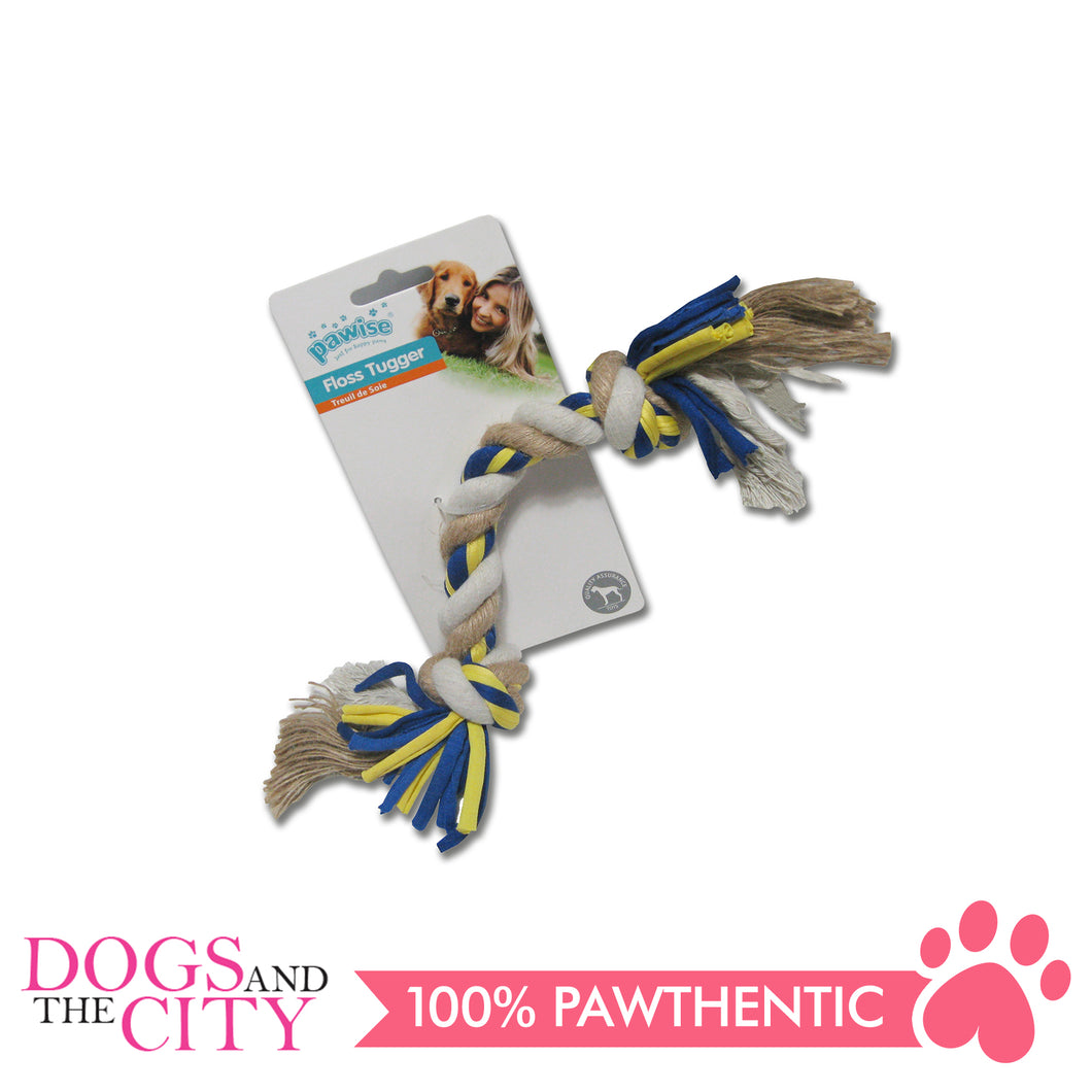 Pawise 14851 Dog Toy Floss Tugger  2 knots Bone 30cm - All Goodies for Your Pet