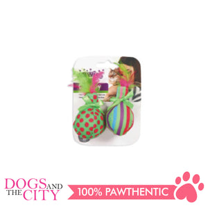 Pawise 28126 Cat Toy Ball & Feather