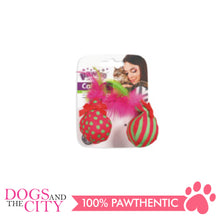 Load image into Gallery viewer, Pawise 28126 Cat Toy Ball & Feather