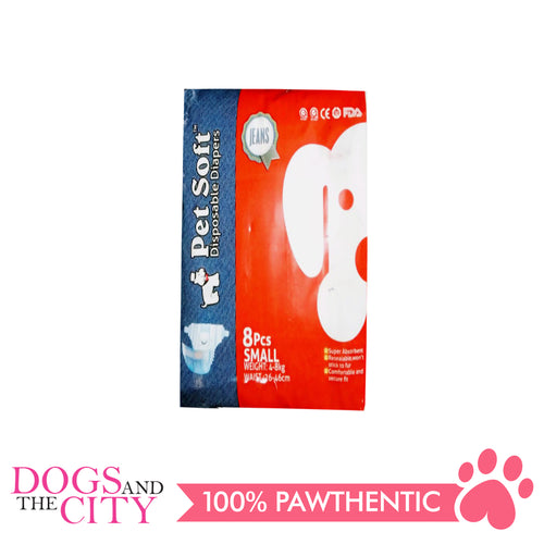 Pet Soft Denims Diaper Small 8's - All Goodies for Your Pet