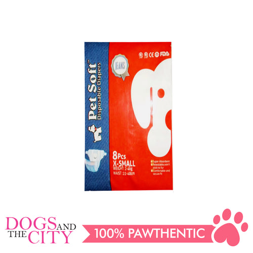 Pet Soft Denims Diaper X-Small 8's - All Goodies for Your Pet