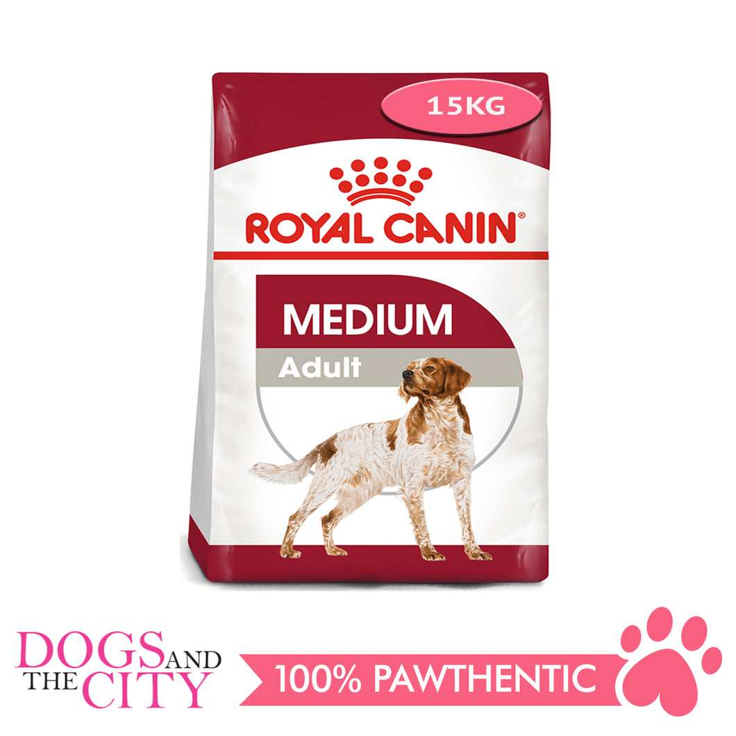 Royal Canin Medium Adult Dry Dog Food 15kg - All Goodies for Your Pet