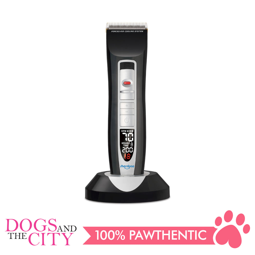 SHERNBAO PGC-660 Smart Digital Professional Pet Clipper Cordless for Dog and Cat