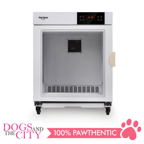 SHERNBAO Premium Pet Dry Room Cabinet Drying Cabin for Dog and Cat Commercial Use, With 2 motors Max power: 3350W White