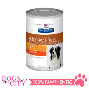 Science Diet Hills Canine K/D Kidney Care Can 370g (3 cans)