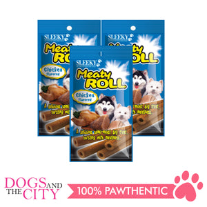 Sleeky Meaty Roll Chicken 50g (3 packs) - All Goodies for Your Pet