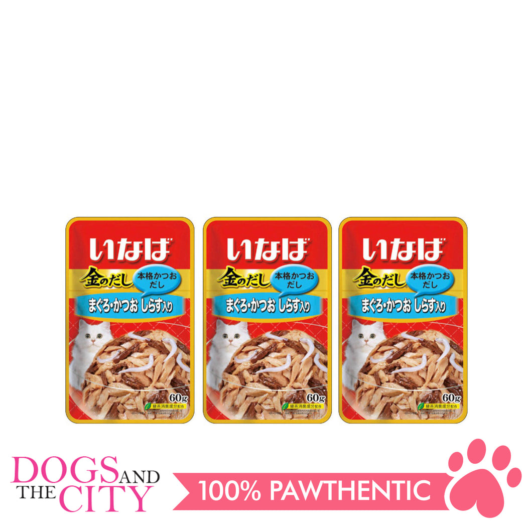 INABA IC-11 Tuna in Jelly Topping Whitebait Cat Wet Food 60g (3 packs)