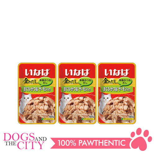 INABA IC-23 Tuna in Jelly Topping Salmon Cat Wet Food 60g (3 packs)