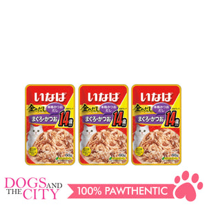 INABA IC-24 Tuna Small Flake in Jelly 60g Cat Snack (3 Packs)
