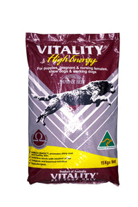 Vitality High Energy Lamb and Beef Dog Dry Food  15kg - All Goodies for Your Pet