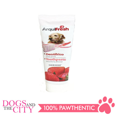 Arquivet Arquifresh Toothpaste Strawberry Flavor 100G - Dogs And The City Online