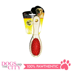 BM Round Double Brush Medium for Dogs and Cats 7x20cm