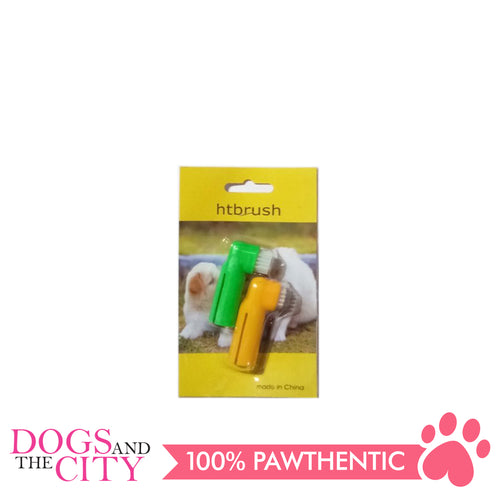 BM 2 piece Pet Finger Tooth Brush