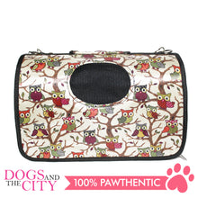Load image into Gallery viewer, BM Printed Stylish Hard Pet Bag Small 37x17x23cm for Dog and Cat