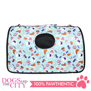 BM Printed Stylish Hard Bag Large 50x19x30cm for Dog and Cat