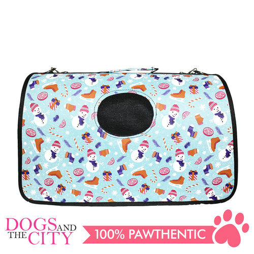 BM Printed Stylish Hard Bag Medium 44x19x26cm for Dog and Cat