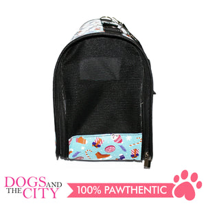 BM Printed Stylish Hard Pet Bag Small 37x17x23cm for Dog and Cat