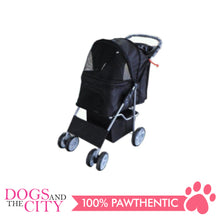 Load image into Gallery viewer, BM SP02 4 Wheel Stroller Black - All Goodies for Your Pet