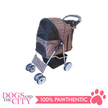 Load image into Gallery viewer, BM SP02 4 Wheel Pet  Stroller Brown - All Goodies for Your Pet