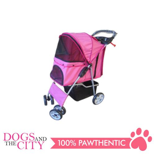 BM SP02 4 Wheel Pet Stroller Pink - All Goodies for Your Pet