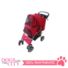 Load image into Gallery viewer, BM SP02 4 Wheel Pet Stroller Red - All Goodies for Your Pet