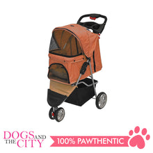 Load image into Gallery viewer, BM SP03 3 Wheel Pet Stroller Orange
